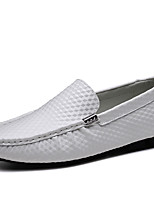 Masculino sapatos Pele Napa Outono Inverno Mocassim Sapatos formais Mocassins e Slip-Ons Para Casual Festas & Noite Branco Preto Marron