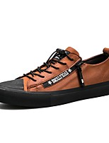 Men's Shoes PU Spring Fall Moccasin Driving Shoes Comfort Sneakers Lace-up For Casual Outdoor Dark Brown Black