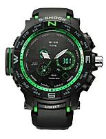Herrn Sportuhr Smart Uhr Armbanduhr Digitaluhr Schweizer digital LED Kalender Chronograph Wasserdicht Duale Zeitzonen Stopuhr Silikon