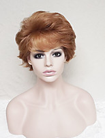 cheap -Women Synthetic Wig Short Curly Medium Auburn With Bangs Party Wig Natural Wigs Costume Wig
