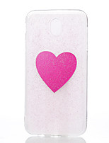 For Case Cover Pattern DIY Back Cover Case Heart Glitter Shine Soft TPU for Samsung Galaxy J7 (2017) J5 (2017) J3 (2017)