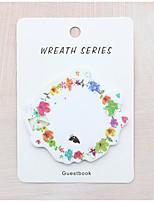 1 PC Wreath Design Self-Stick Note Set(Random Color)