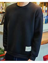 Felpa Da uomo Casual Tinta unita Rotonda Media elasticità Cotone Manica lunga Autunno