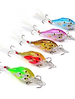 5 pcs Fishing Lures Hard Bait Crank g/Ounce,70mm mm/2-3/4