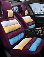 Rainbow Striped Plush Car Seat Cushion Material Winter Seat Cover Surrounded By AFive Seat-Violet