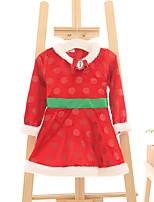 Girl's Casual/Daily Holiday Solid Dress,Polyester Fall Winter Long Sleeve