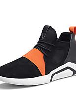 Da uomo Scarpe Tessuto Estate Autunno Comoda Suole leggere Sneakers Lacci Per Casual Nero Bianco/nero Arancione e nero