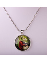 Women's Pendant Necklaces Circle Alloy Animal Design Jewelry For Party Halloween