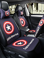 Captain America  Car Seat Cushion Seat Cover Seat Four Seasons General Surrounded By A Five Seat Headrest With 2 Wheel Sets