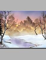 Dipinta a mano Paesaggi Orizzontale,Artistico Classico Stile naturalistico Fantastico Moderno/Contemporaneo Ufficio Natale Capodanno Un