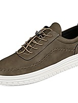 Men's Shoes PU Spring Fall Comfort Sneakers Gore Lace-up For Casual Outdoor Khaki Gray Black