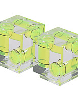 andoer 2-pack 3 assi a 3 dimensioni bolla di spirito della fotocamera bilanciamento del livello caldo supporto per il canone nikon