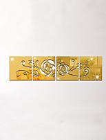 A fleurs/Botanique Miroir 3D Stickers muraux Autocollants avion Miroirs Muraux Autocollants Autocollants muraux décoratifs,Acrylique