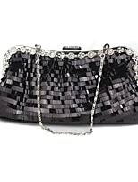 Women Bags All Seasons PVC Evening Bag Sequins for Wedding Event/Party Gold Black Silver Red Coffee