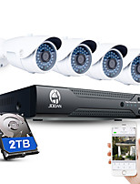 JOOAN® 4CH CCTV NVR System H.264 POE 1080P Video Output Waterproof IP Camera with 2TB HDD