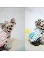 Dog Vest Dog Clothes Casual/Daily Bowknot Blushing Pink Blue