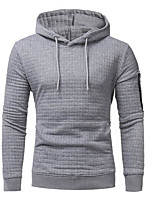 Men's Casual/Daily Hoodie Print Hooded Micro-elastic Cotton Long Sleeve Fall Winter