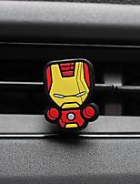 Ornement de parfum de voiture Superman Iron Man Cartoon créatif silicone Purificateur d'air automobile
