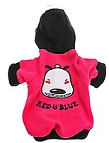 Dog Hoodie Dog Clothes Casual/Daily Cartoon Blue Green Red Fuchsia Black