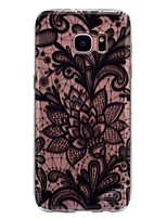 For Case Cover IMD Transparent Pattern Back Cover Case Lace Printing Soft TPU for Samsung Galaxy S8 Plus S8 S7 edge S7 S6 edge S6 S5