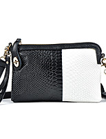 Women Bags All Seasons Cowhide Shoulder Bag Zipper for Event/Party Black