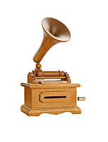 Music Box Toys Square Phonograph Wooden Wood 1 Pieces Not Specified Valentine's Day Gift