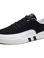Homme Chaussures Tissu Printemps Automne Confort Basket Lacet Pour Décontracté Noir Gris Noir/blanc