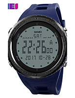 Men's Sport Watch Digital Watch Digital PU Band Black Blue Green Grey