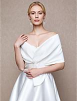 Women's Wrap Capelets Charmeuse Wedding Party/ Evening Applique