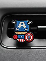Car Perfume Ornament  Superman Creative Cartoon Silicone Metal Material  Automotive Air Purifier