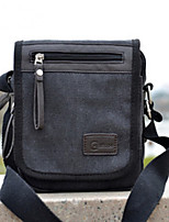 Men Bags All Seasons Canvas Shoulder Bag Pockets Zipper for Casual Outdoor Black Brown