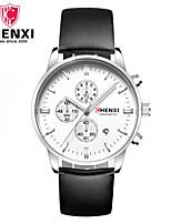 Men's Dress Watch Fashion Watch Wrist watch Chinese Quartz Calendar Leather Band Charm Luxury Cool Casual Black