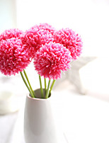 Green Ball Onion Artificial Hydrangea Flower 5 Branch