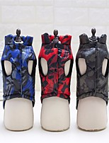 Dog Vest Dog Clothes Keep Warm Geometic Blue Green Red