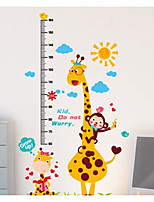 Animals Wall Stickers Plane Wall Stickers Height Stickers,Plastic Material Home Decoration Wall Decal