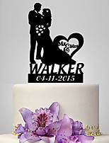 Cake Topper Classic Couple Plastic Wedding Classic Theme Romance Wedding Poly Bag