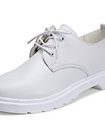 Men's Shoes Nappa Leather Spring Fall Comfort Oxfords For Outdoor Black White