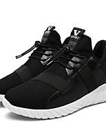 Da uomo Scarpe Tulle Estate Autunno Comoda Suole leggere Sneakers Elastico Per Casual Nero Bianco/nero