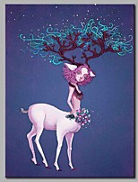 Elegant Deer Modern Artwork Wall Art for Room Decoration