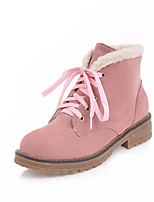Women's Shoes Nubuck leather Fall Winter Fashion Boots Bootie Boots Chunky Heel Round Toe Booties/Ankle Boots Lace-up For Casual Dress