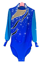 Men's Figure Skating Dress Ice Skating Dress Long Sleeves Performance Shirt High Elasticity Spandex Chinlon Skating Wear Ice Skating