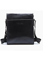 Men Bags All Seasons Cowhide Shoulder Bag Zipper for Formal Office & Career Black Gray Brown