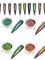 0.15g/Bottle Peacock Mirror Effect Nail Art Glitter Powder
