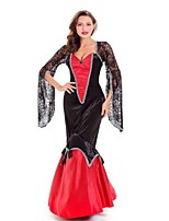 Wizard/Witch Queen Vampire Cosplay Costumes Adults' Halloween Festival/Holiday Halloween Costumes Fashion Vintage