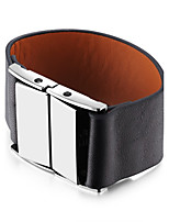 Men's Women's Cuff Bracelet Leather Bracelet Jewelry Fashion Statement Jewelry Silver Plated Alloy Geometric Jewelry For Daily Going out
