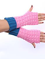 Women's Acrylic Elbow Length Half Finger,Pattern Jacquard Spring/Fall Winter