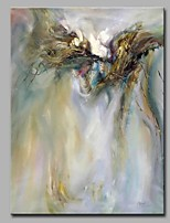 Hand-Painted Abstract Vertical,Artistic Abstract Birthday Modern/Contemporary Office/Business Christmas New Year's One Panel Canvas Oil