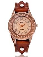 Mujer Reloj de Moda Reloj Casual Simulado Diamante Reloj Reloj de Pulsera Reloj Pulsera Reloj creativo único Chino Cuarzo Piel Banda