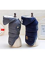 Cane Cappottini Abbigliamento per cani Casual Tenere al caldo Tinta unita Grigio Blu