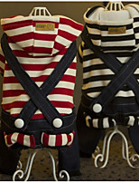 Dog Clothes/Jumpsuit Dog Clothes Casual/Daily Stripe Red Black